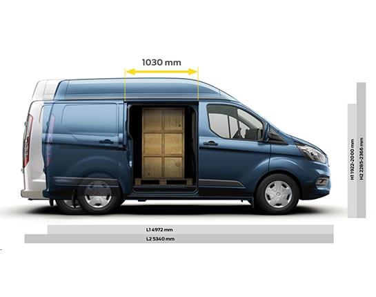 ford transit custom km0 medidas